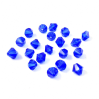 40 Crystal Glass Bicone Beads 8mm Sapphire
